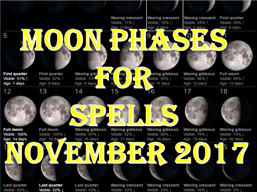 money spells, moon magic, best money spells, full moon magic, full moon spells, full moon rituals, how to do money spells, easy money spells, how to use the moon in spells, how to use the moon in rituals, moon phases november 2017, full moon november 2017, waxing moon november 2017, wanning moon november 2017, new moon november 2017, waning moon november 2017,